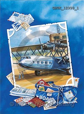 Stephen, MASCULIN, paintings, plane, symbols, blue(GBUK12999/1,#M#) Männer, masculino, illustrations, pinturas , hombres ,everyday