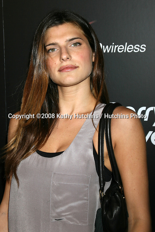 Lake Bell arriving at the Launch party for the Blackberry 8330 Pink Curve at Intermix in  Los Angeles, CA on.August 27, 2008.©2008 Kathy Hutchins / Hutchins Photo....