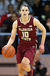 12 February 2015: Florida State's Leticia Romero (ESP). The University of North Carolina Tar Heels hosted the Florida State University Seminoles at Carmichael Arena in Chapel Hill, North Carolina in a 2014-15 NCAA Division I Women's Basketball game. UNC won the game 71-63.