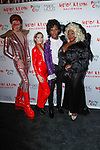(L-R) John Fugelsang, Elizabeth Wagmeister, Carlos Greer, and Bevy Smith arrives at Heidi Klum's 18th Annual Halloween Party presented by Party City and SVEDKA Vodka at Magic Hour Rooftop Bar & Lounge at Moxy Times Square, on October 31, 2017.