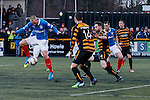 Kenny Miller tries to score with a back-heeler in front of goals