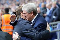 Crystal Palace manager Roy Hodgson and Tottenham Hotspur manager Mauricio Pochettino during Tottenham Hotspur vs Crystal Palace, Premier League Football at Wembley Stadium on 5th November 2017