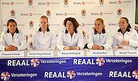 29-1-10, Almere, Tennis, Training Fedcup team, VLNR: Chayenne Ewijk, Richel Hogenkamp, Captain Mannon Bollegraf , Arantxa Rus en Nicole Thyssen