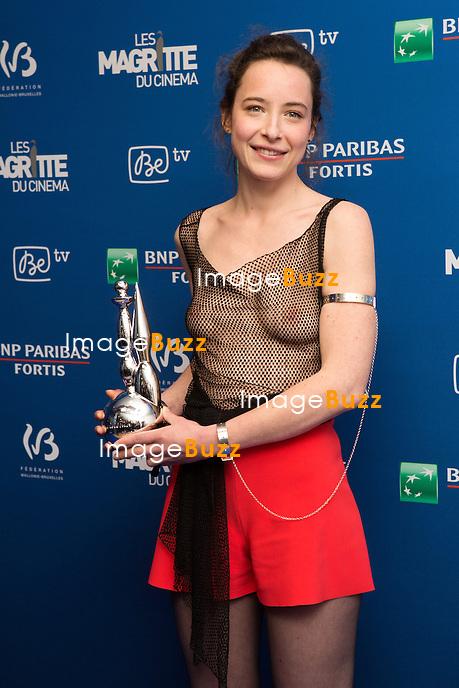 Salom&eacute; Richard( Magritte du meilleur espoir f&eacute;minin ) : 7&egrave;me C&eacute;r&eacute;monie des Magritte du Cin&eacute;ma, qui r&eacute;compense le septi&egrave;me art belge, au Square, &agrave; Bruxelles - Salle de presse.<br /> 7th edition of the Magritte du Cinema awards ceremony - Press Room<br /> Belgium, Brussels, 4 February 2017