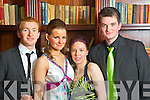 Pictured at the Castleisland Community College Debs at the Abbeygate Hotel, Tralee on Friday, from left: Thomas McKay, Niamh Hannafin, Chelsea Kerins, Marek Trebacz  .