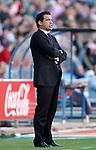 Levante's coach Luis Garcia Plaza during La Liga Match. April 24, 2011. (ALTERPHOTOS/Alvaro Hernandez)