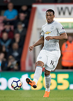 Anthony Martial of Man Utd during the Premier League match between Bournemouth and Manchester United at the Goldsands Stadium, Bournemouth, England on 18 April 2018. Photo by Andy Rowland.