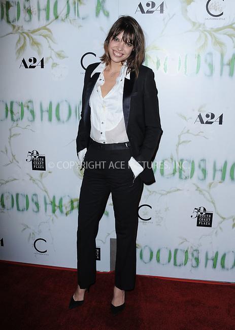 www.acepixs.com<br /> <br /> September 18 2017, LA<br /> <br /> Karen O. arriving at the premiere of 'Woodshock' at the ArcLight Cinemas on September 18, 2017 in Hollywood, California<br /> <br /> By Line: Peter West/ACE Pictures<br /> <br /> <br /> ACE Pictures Inc<br /> Tel: 6467670430<br /> Email: info@acepixs.com<br /> www.acepixs.com