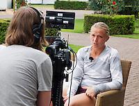 19-06-13, Netherlands, Rosmalen,  Autotron, Tennis, Topshelf Open 2013, Interview with Michaella Krajicek<br /> Photo: Henk Koster