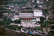 September, 1985. Shaanxi Province, China. View from the Nanguai Primary School in Yan'an.