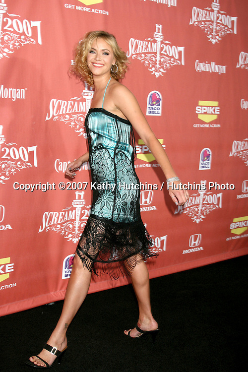 "Kristanna Loken.Spike TV's ""Scream 2007"" Awards.The Greek Theater.Los Angeles,  CA.October 19, 2007.©2007 Kathy Hutchins / Hutchins Photo...               ."