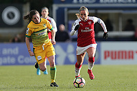 Jordan Nobbs of Arsenal during Arsenal Women vs Yeovil Town Ladies, FA Women's Super League FA WSL1 Football at Meadow Park on 11th February 2018