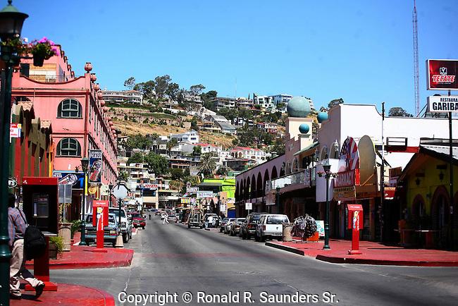 Tourist district street scene.