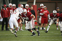 11 April 2007: Ben Muth during spring practice at the practice field in Stanford, CA.