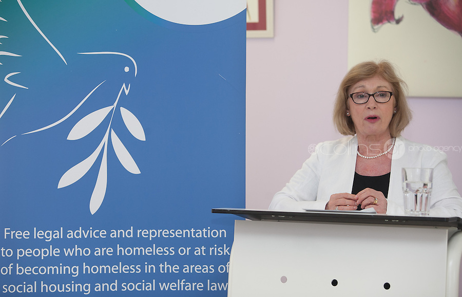 ***NO FEE PIC *** 11/06/2014 Minister of State for Housing, Minister Jan O'Sullivan TD during The Mercy Law Resource Centre's Annual Report for 2013 at Sophia Housing on Cork Street, Dublin. Photo: Gareth Chaney Collins