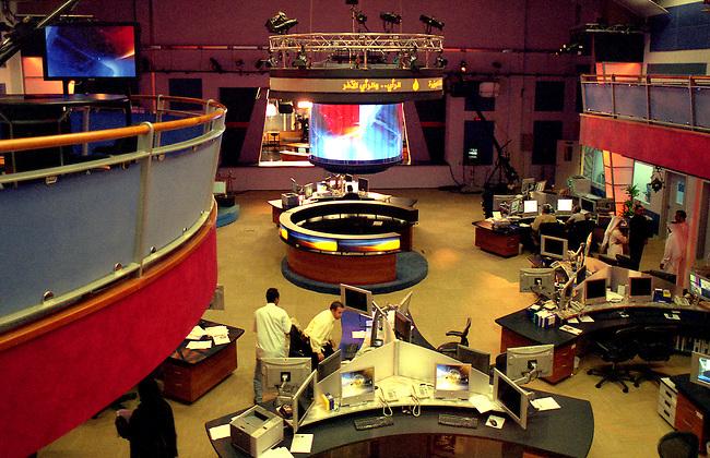 Qatar, Doha. Les studios de la television Al Jazeera. *** State of Qatar, City of Doha, studios of Al Jazeera television.
