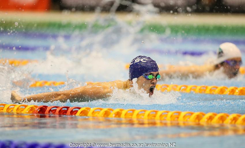 Angus Kelliher.  Swimming New Zealand Aon National Age Group Championships, Wellington Regional Aquatic Centre, Wellington, New Zealand, Friday 19 April 2019. Photo: Simon Watts/www.bwmedia.co.nz