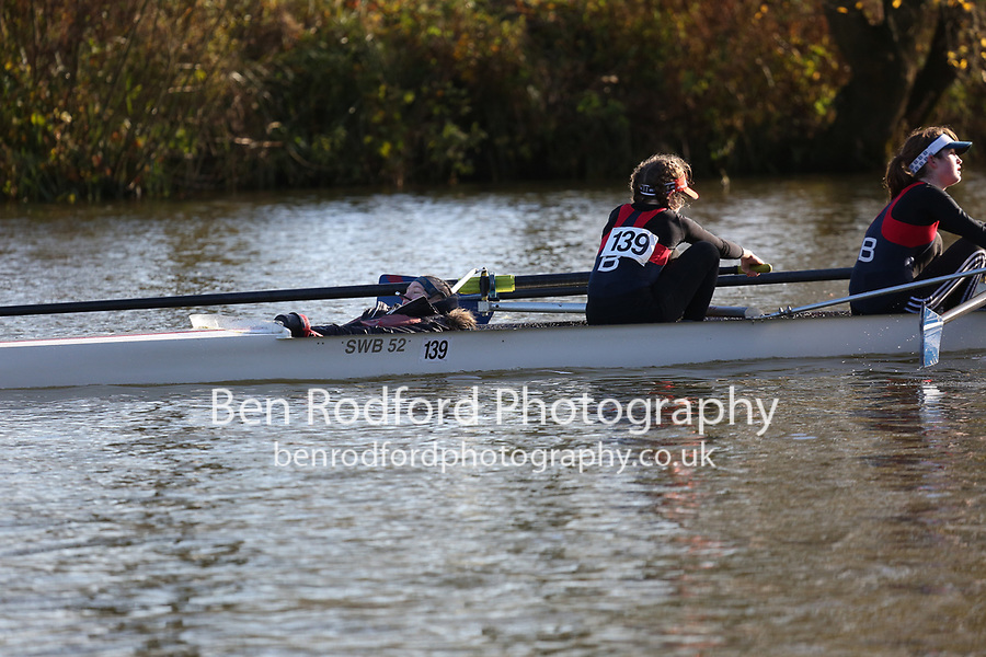 Crew: 139   W J15 4+   Sir William Borlase?s Gram Sch Boat Club   SWB-MARKWELL<br /> <br /> Wallingford Head 2017<br /> <br /> To purchase this photo, or to see pricing information for Prints and Downloads, click the blue 'Add to Cart' button at the top-right of the page.