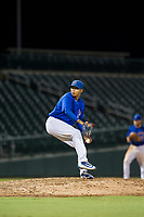 AZL Cubs relief pitcher Eugenio Palma (86) delivers a pitch during a game against the AZL Brewers on August 6, 2017 at Sloan Park in Mesa, Arizona. AZL Cubs defeated the AZL Brewers 8-7. (Zachary Lucy/Four Seam Images)
