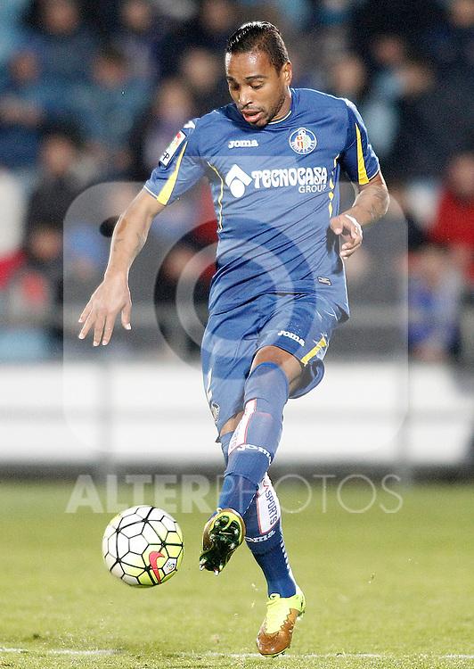 Getafe's Alvaro Pereira during La Liga match. March 18,2016. (ALTERPHOTOS/Acero)