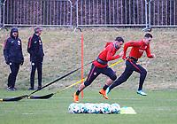 Danny Blum (Eintracht Frankfurt), Branimir Hrgota (Eintracht Frankfurt) - 04.04.2018: Eintracht Frankfurt Training, Commerzbank Arena