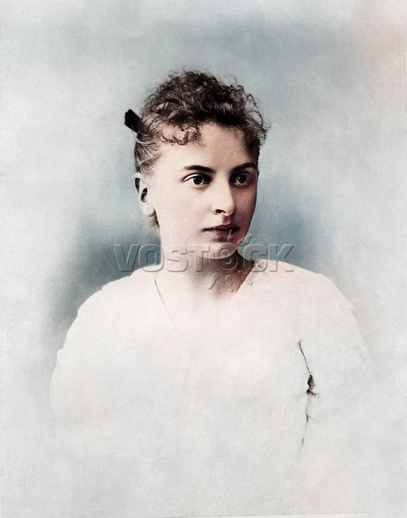 Инесса Арманд (1874-1920) - деятель российского революционного движения. 1895 / Inessa Armand (1874-1920) activist of Russian and international revolutionary movement. 1895
