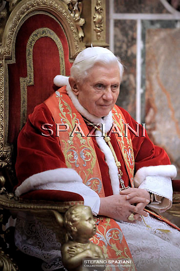 Pope Benedict XVI  during an audience with Vatican's accredited diplomats on January 10, 2010