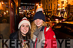 Helen Dowling (Ballyduff) and Anna Mai Kennedy (Dublin), pictured at the Coca Cola Truck in Listowel on Sunday last.