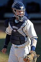 28 February 2010:  FIU's Jose Behar (8) looks for a sign from the dugout as the FIU Golden Panthers defeated the Oral Roberts Golden Eagles, 7-6 (10 innings), at University Park Stadium in Miami, Florida.