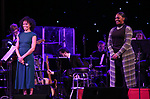 Eisa Davis and Jai'Len Josey on stage at the Dramatists Guild Foundation 2018 dgf: gala at the Manhattan Center Ballroom on November 12, 2018 in New York City.