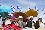 Israel, Jerusalem. Ethiopian Jews at the annual Sigd festival, November 2004<br />