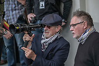 The Post (2017) <br /> Behind the scenes photo of Steven Spielberg &amp; Janusz Kaminski<br /> *Filmstill - Editorial Use Only*<br /> CAP/MFS<br /> Image supplied by Capital Pictures