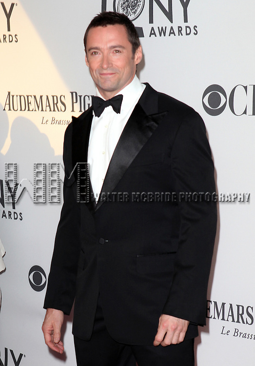 Hugh Jackman pictured at the 66th Annual Tony Awards held at The Beacon Theatre in New York City , New York on June 10, 2012. © Walter McBride / WM Photography