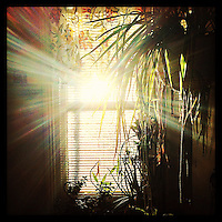 The sun comes up as seen through our upstairs hallway window on January 3, 2013.