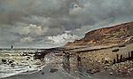 Claude Monet - The Pointe de La Heve at Low Tide (1865). Fort Worth, Kimbell Art Museum.