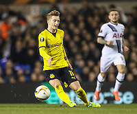 Marco Reus of Borussia Dortmund during the UEFA Europa League match between Tottenham Hotspur and Borussia Dortmund at White Hart Lane, London, England on 17 March 2016. Photo by David Horn / PRiME Media Images