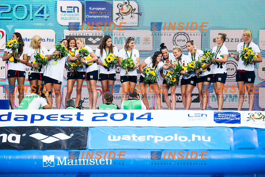 Podium<br /> Hungary Bronze Medal<br /> LEN European Water Polo Championships 2014 - July 14-27<br /> Alfred Hajos -Tamas Szechy Swimming Complex<br /> Margitsziget - Margaret Island<br /> Day13 Men - July 26<br /> Photo Guido Barbagelata/Inside/