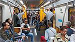 Passageiros na linha amarela do metro. Sao Paulo. 2017. Foto © Juca Martins.