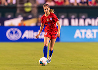 PHILADELPHIA, PA - AUGUST 29: Morgan Brian #6 of the United States dribbles during a game between Portugal and the USWNT at Lincoln Financial Field on August 29, 2019 in Philadelphia, PA.