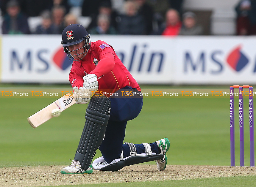 Simon Harmer in batting action for Essex during Essex Eagles vs Gloucestershire, Royal London One-Day Cup Cricket at The Cloudfm County Ground on 4th May 2017