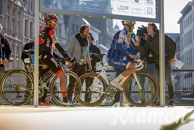 Tom Boonen (BEL/Quick Step Floors) pre race interview. <br /> Greg Van Avermaet (BEL/BMC) is the next in line to be interviewed<br /> <br /> 101st Ronde van Vlaanderen  2017 (1.UWT)<br /> 1day race: Antwerp-Oudenaarde (260km)
