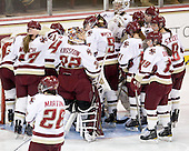 - The Boston College Eagles defeated the Harvard University Crimson 3-1 to win the 2011 Beanpot championship on Tuesday, February 15, 2011, at Conte Forum in Chestnut Hill, Massachusetts.