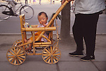 China, a bamboo baby stroller in Kunming