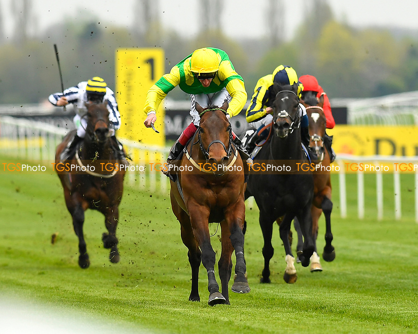 Winner of The Dubai Duty Free Handicap Stakes  Stake Acclaim ridden by AdamKirby and trained by Dean Ivory  during Racing at Newbury Racecourse on 12th April 2019