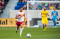 Tim Cahill (17) of the New York Red Bulls. The New York Red Bulls and the Columbus Crew played to a 2-2 tie during a Major League Soccer (MLS) match at Red Bull Arena in Harrison, NJ, on May 26, 2013.