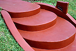 Steps on lawn of home in West Hollywood, CA