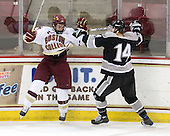 Matt Price (BC - 25), Ben Farrer (Providence - 14) - The Boston College Eagles defeated the Providence College Friars 4-1 on Tuesday, January 12, 2010, at Conte Forum in Chestnut Hill, Massachusetts.