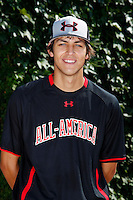 First baseman Ryan Ripken #20 poses for a photo before the Under Armour All-American Game at Wrigley Field on August 13, 2011 in Chicago, Illinois.  (Mike Janes/Four Seam Images)