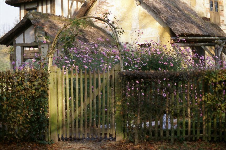 Marie Antoinette's garden gate at Versailles, France