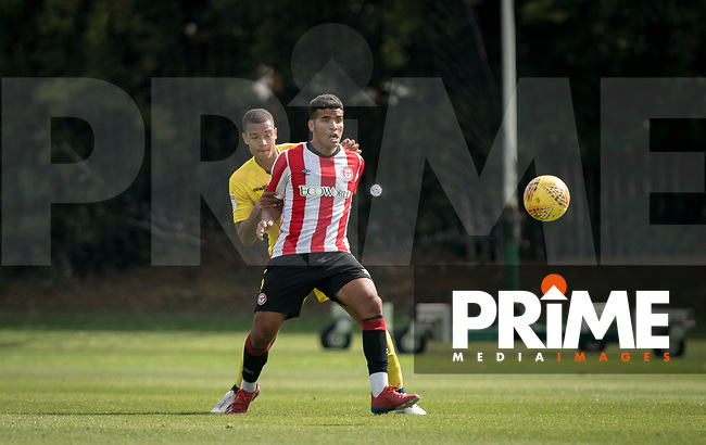 Giles Phillips (on loan from QPR) of Wycombe Wanderers during the behind closed doors friendly between Brentford B and Wycombe Wanderers at Brentford Football Club Training Ground & Academy, 100 Jersey Road, TW5 0TP, United Kingdom on 3 September 2019. Photo by Andy Rowland.